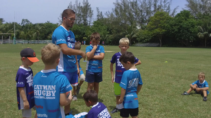 While not back to competitive playing, Westin fosters his love for rugby through coaching younger players.