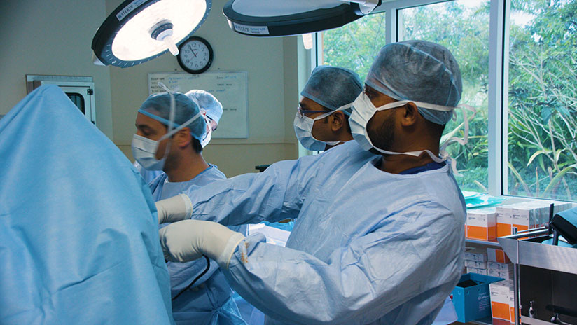 This is the first time an arthroscopic Latarjet procedure had been performed in the region.