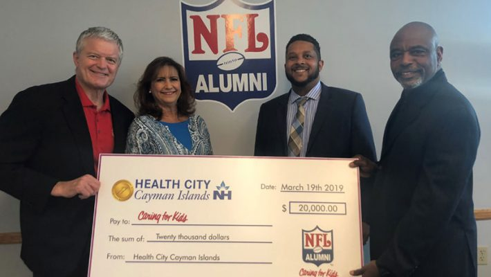Health City Cayman Islands Donates To NFL Alumni