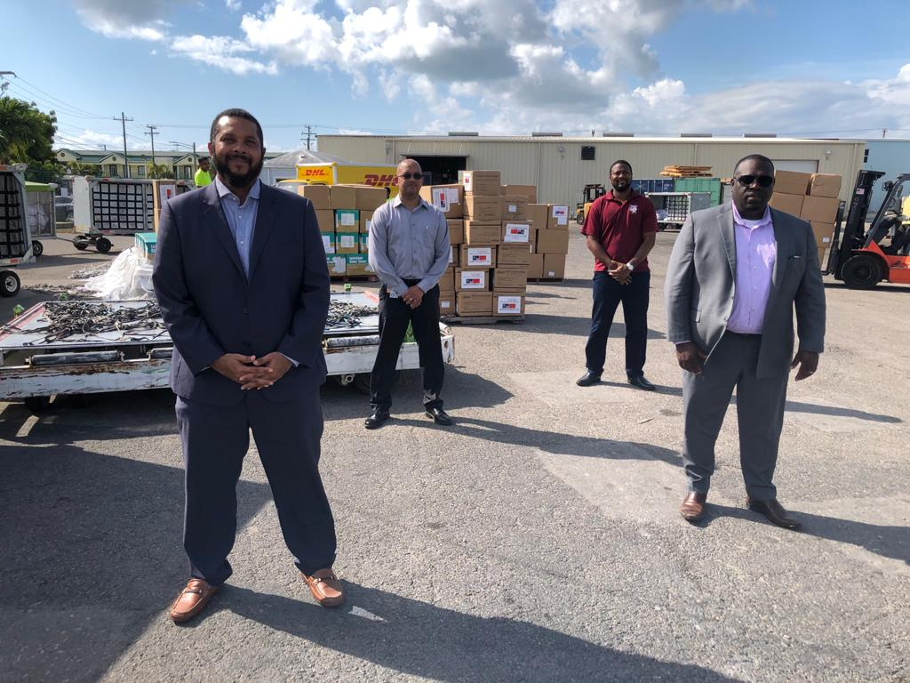 Left to right: Shomari Scott, Director of Business Development – Health City Cayman Islands; Dr. Samuel Williams-Rodriguez, Medical Officer of Health – Cayman Islands Health Services Authority; Samuel Rose, Cabinet Secretary & Chief Officer of the Cabinet Office; Hon. Dwayne Seymour, Minister of Health.